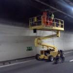 Rilievo radar sulla volta di una galleria autostradale