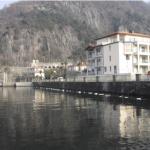 Situazione del muro di controriva a bordo lago