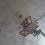 Acquisizione radar sulla volta di una galleria in costruzione