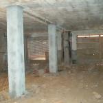 Pilastri in calcestruzzo oggetto di indagine geofisica